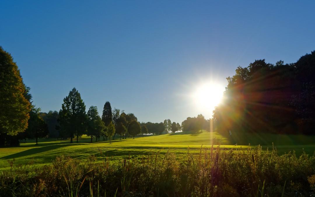 Herbst auf dem Golfplatz