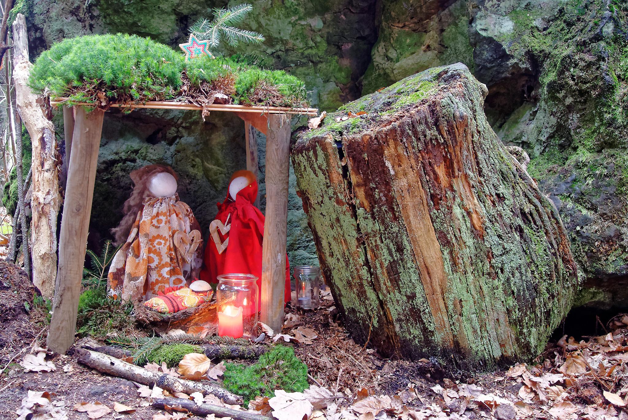 Krippe im Wald Brochterbeck