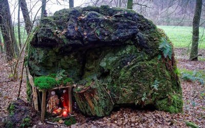 Krippe im Wald