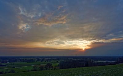 Sonnenuntergang mit der neuen Kamera