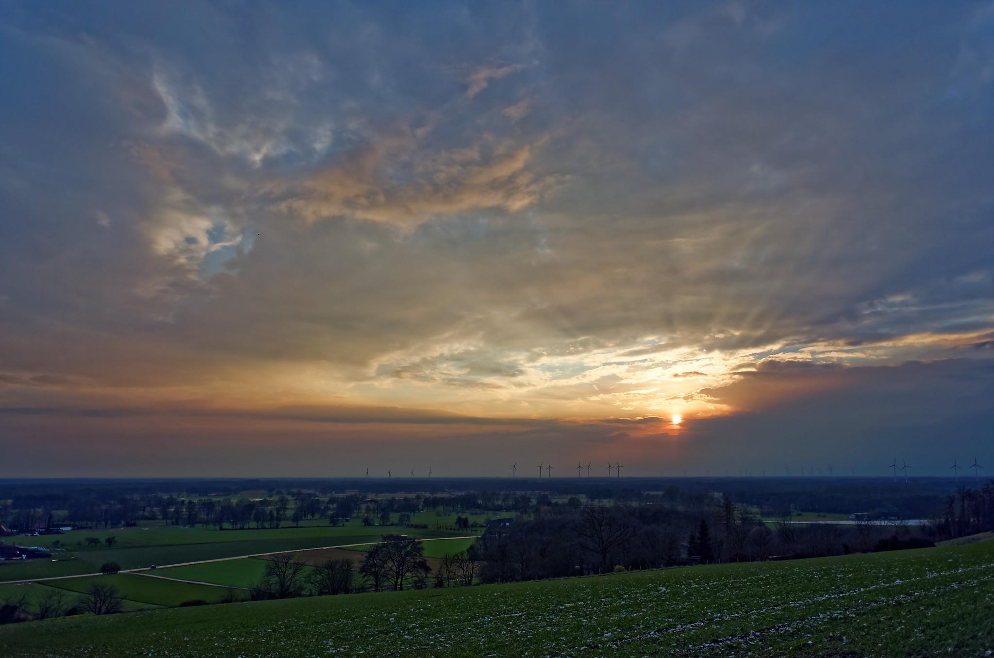 Sonnenuntergang Brochterbeck